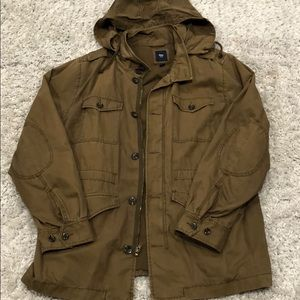 Gap men's Military jacket with hood